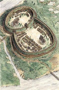 Poznań Stronghold, the 10th Century by Jarosław Gryguć