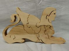 Sphinx Wooden 3D Puzzle in Ambrosia Maple by HolyokePuzzles, $19.00  Use coupon code PIN10 for 10% off anything in the Holyoke Puzzles store. #shopsmall #artisansofwmass