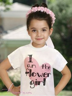 White Flower Girl T-Shirts, gives this to her when you ask her