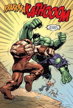 Hulk vs Juggernaut...