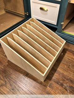 Diy storage 331718328805240023 - DIY Pull-Out Slotted Drawer For Cookie Sheets, Pizza Pans, Cutting Boards, Etc. – Addicted 2 Decorating® Source by