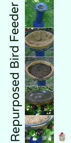 Repurposed Bird Feeder on HoosierHomemade.com