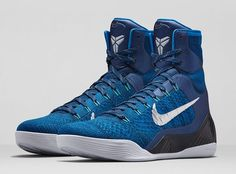 "Check out the official photos of the Nike Kobe 9 Elite ""Brave Blue"""