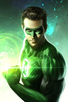 Green Lantern from digital artist Stefani Rennee