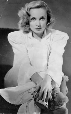 The insanely beautiful and timeless, Carole Lombard. She was said to have looked like an angel and swore like a sailor. Queen of the screwball comedies, she died tragically in a plane crash, anxious to return home to her husband, Clark Gable, after aiding in a war bond rally.