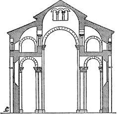 Plan of St. Romanesque Art, Romanesque Architecture, Church Architecture, Building Sketch, Toulouse, Historical Sites, Middle Ages, Art History, Brick