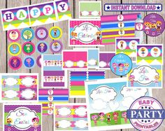 70 OFF Lalaloopsy Party Package instant by EasyPartyPrintables, $13.50