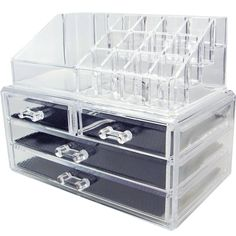 Ikee Design Acrylic Jewelry & Cosmetic Storage Display Boxes Two Pieces Set. for Like the Ikee Design Acrylic Jewelry & Cosmetic Storage Display Boxes Two Pieces Set. Cosmetic Display, Cosmetic Storage, Makeup Storage, Jewelry Organization, Storage Organization, Storage Drawers, Box Storage, Makeup Display, Bathroom Organization
