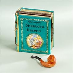 Limoges Sherlock Holmes Book with Pipe Box The Cottage Shop