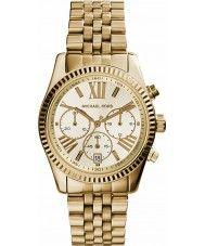 Ladies Michael Kors Ladies Lexington Gold Plated Chronograph Watch 139.00 Watches2U