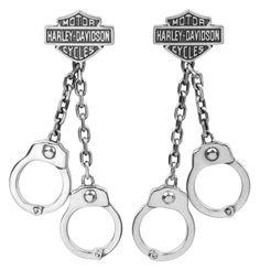 Harley-Davidson® Women's Hand Cuff Dangle Earrings HDE0240