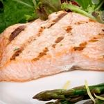 Salmon and Asparagus with Mixed Green Salad. All phases.