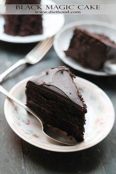 Black Magic Chocolate Cake Recipe: Moist, rich, and delicious dark chocolate cake.: