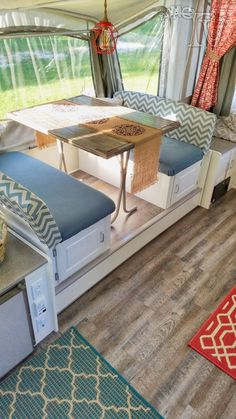 This is my Pop up renovation on a 2003 Coleman Bayside Elite camper dinette… More