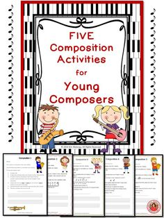 his PDF file contains: ♦ FIVE composition tasks for young musicians!  Each task has a different set of requirements for the student to fulfill.