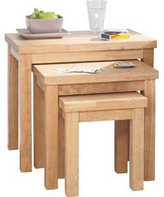 Gloucester Solid Wood Nest of Tables - Natural.