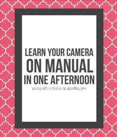 Photography for Beginners: Shooting in Manual for Beginners - Sunny with a Chance of Sprinkles