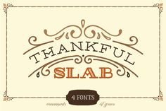 Check out Thankful Slab by Ornaments of Grace on Creative Market