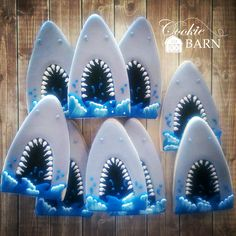 Shark Mouth Decorated Cookies