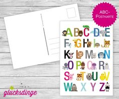 ♥ ABC-Postkarte ♥ Glückwunschkarte/Einladung von j-designerie - FEINE DRUCKSACHEN auf DaWanda.com