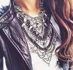 Hipster outfits - Double Horn Diamond Necklace in Solid Gold , Mini Diamond Gold Crescent Moon Dainty Necklace in Rose Gold , Graduation Gift – Hipster outfits Hipster Outfits, Fashion Outfits, Emo Fashion, Rock Fashion, Latex Fashion, Gothic Fashion, Style Fashion, Rocker Chic Style, Diamond Cross Necklaces