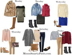 MissusSmartyPants.com Says: Plan Your Weekly Outfits!