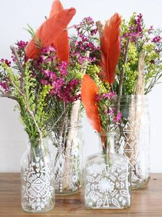 5 Must-Haves for a Boho-Chic Look. Flowers everywhere are a must. Try these Bohemian-Inspired Vases and Jars #BohoChicDecor