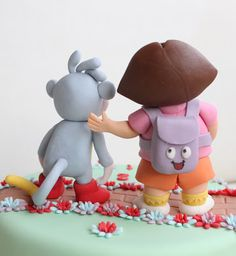 caramelo y canela: Tarta Dora la Exploradora y Botas