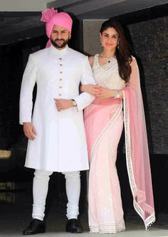 Love Kareena's sari and Saif looks good in a turban