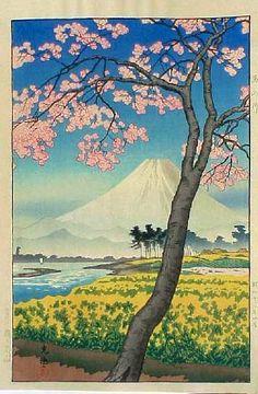 Mt. Fuji in the Spring, by Tsuchiya Koitsu, 1938