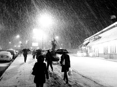 Snow Storm - Black & White Photography