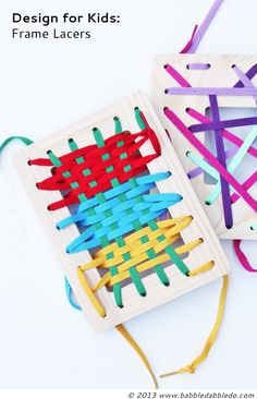 DIY Toys: Frame Lacers $4 + 30 minutes = easy DIY toy!