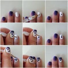 Polished Casual: [All about Nailart] Galaxy Drip Drop Nails