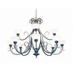 2nd Ave Design Mirasol 12 Light Shaded Chandelier Finish: