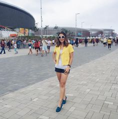 Olimpíadas Rio 2016: look bem casual e confortável para andar bastante e torcer muuuito!!