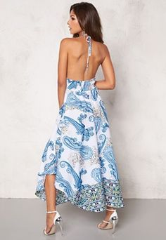 Chiara Forthi Tati Dress White/Blue Bubbleroom.no What To Wear Today, How To Wear, Backless, White Dress, Blue, Dresses, Fashion, Vestidos, Moda