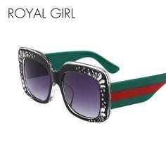 198bcaf3563 ROYALGIRL Square Sunglasses Women Men 2018 New Brand Acetate Double Color  Frame Eyeglasses Gradient Lens Diamond Oculos UV400 A639