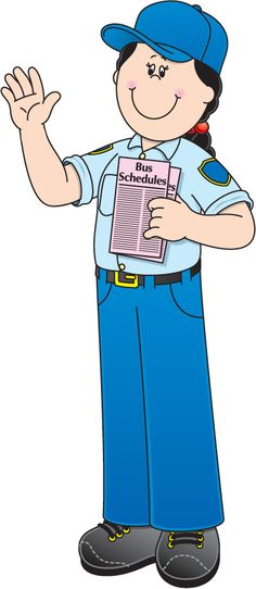 Community Helper: Bus Driver Community Helpers Worksheets, Community Helpers Crafts, Community Jobs, Community Workers, School Community, School Worksheets, Cartoon Caracters, School Clipart, Monthly Themes