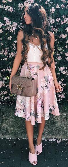 ootd top + bag + skirt
