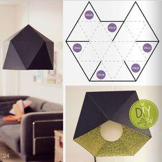 Origami Geometric Diy Lamp Shades 52 Ideas For 2019 Origami Diy, Origami Lampshade, Paper Lampshade, Origami Paper, Origami Hand, Diy Luz, Diy Lampe, Papier Diy, Creation Deco