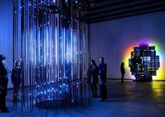 Leo Villareal, Cylinder II, 2012 and David Batchelor, Magic Hour, 2004/7