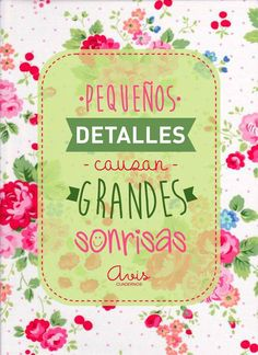 Pequeños detalles... Mr Wonderful, Spanish Quotes, Cute Quotes, Favorite Quotes, Positive Quotes, Happy Birthday, Inspirational Quotes, Motivational, Decoupage