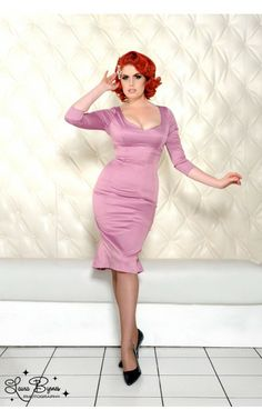 Priscilla Dress in Lavender Meredith Satin - My Vintage Valentine - Collections | Pinup Girl Clothing