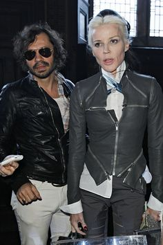 Daphne Guinness and Olivier Zahm