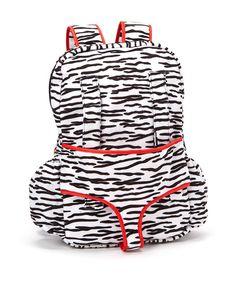 Look at this #zulilyfind! Zebra Sassafras Doll Carrier Backpack by My 18 Inch Doll #zulilyfinds