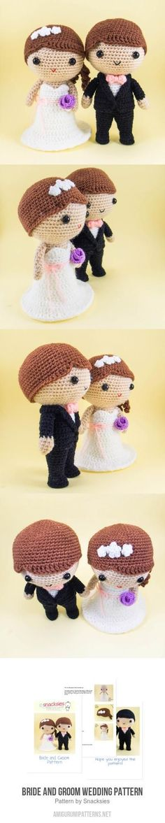 Bride And Groom Wedding Pattern Amigurumi Pattern