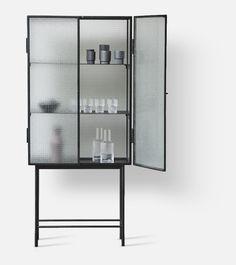 Ferm Living: Haze vitrine Bathroom Medicine Cabinet, Interior, Furniture, Living, Design, Home Decor, Polyvore, Image, Corning Glass