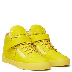 THE SHARK 3.0 - YELLOW - Mid Tops