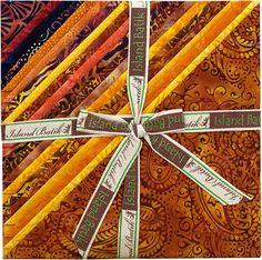 """Island Batik Pumpkin Patch Fabric Stack; 10"""" square by Island Batik at TCSFabrics #Batik #Fabric #IslandBatik #PumpkinPatch FabricBundle"""
