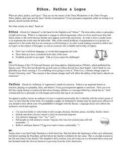 003 Ethos Pathos Logos Examples Creative teaching ideas for